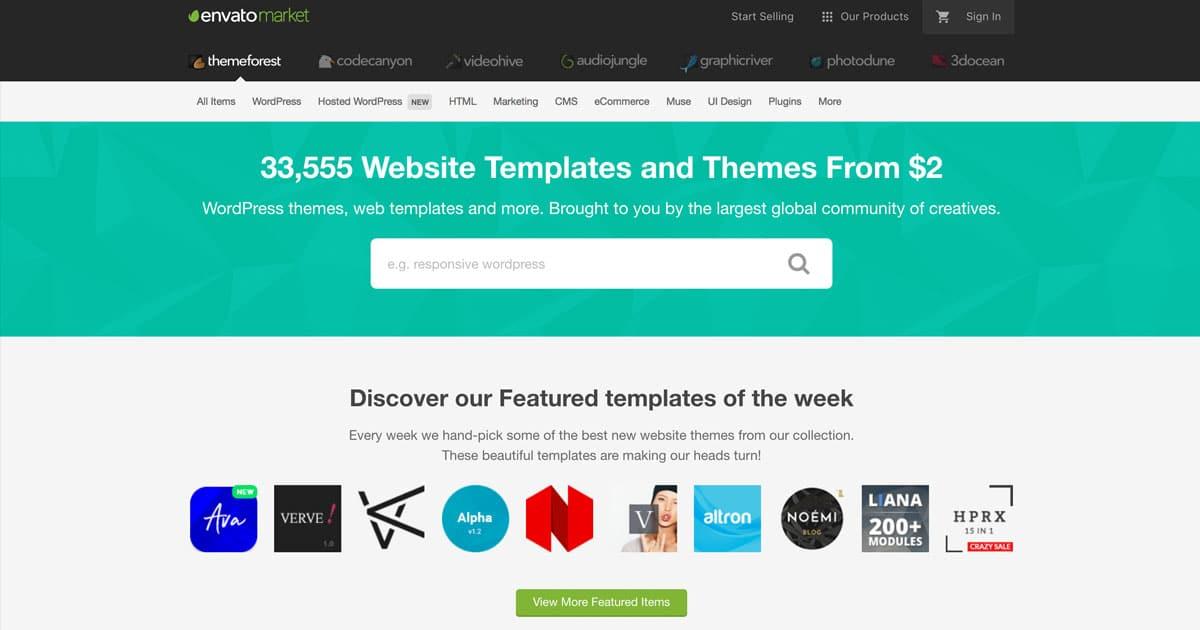 WordPress teemat Themeforestista