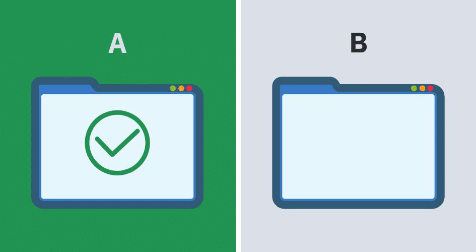 A/B-testaus eri sivujen välillä